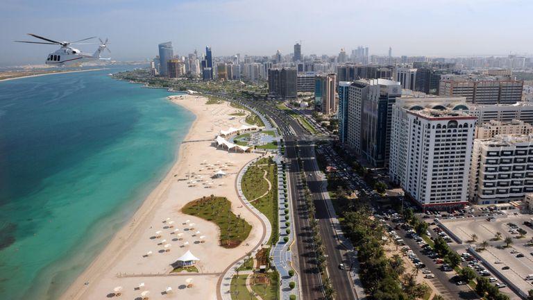 A view of Abu Dhabi.