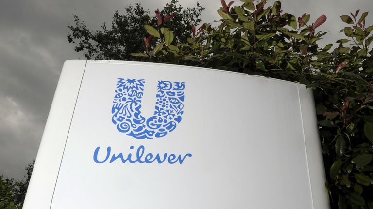 """File photo dated 14/06/12 of a Unilever sign. Ben & Jerry's and Hellman's mayonnaise owner Unilever has said it has started 2021 in """"good shape"""" after it missed market expectations for the past year. Issue date: Thursday February 4, 2021."""
