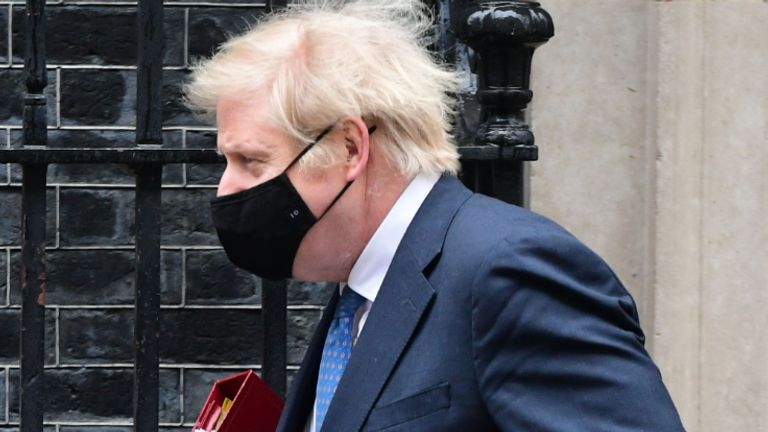Prime Minister Boris Johnson leaves 10 Downing Street to attend Prime Minister's Questions at the Houses of Parliament, London. Picture date: Wednesday March 10, 2020.