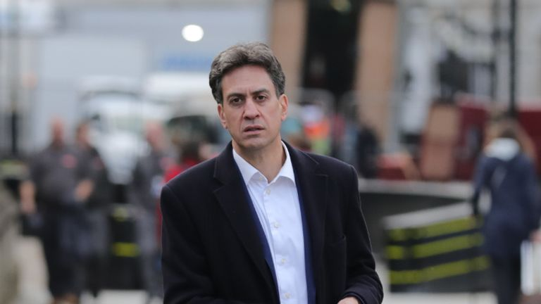 Labour's shadow business secretary Ed Miliband arrives at the Houses of Parliament in Westminster, London.