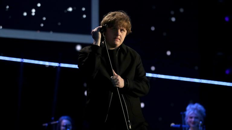 Lewis Capaldi performs during the BBC Sports Personality of the Year 2019 at The P&J Live, Aberdeen.