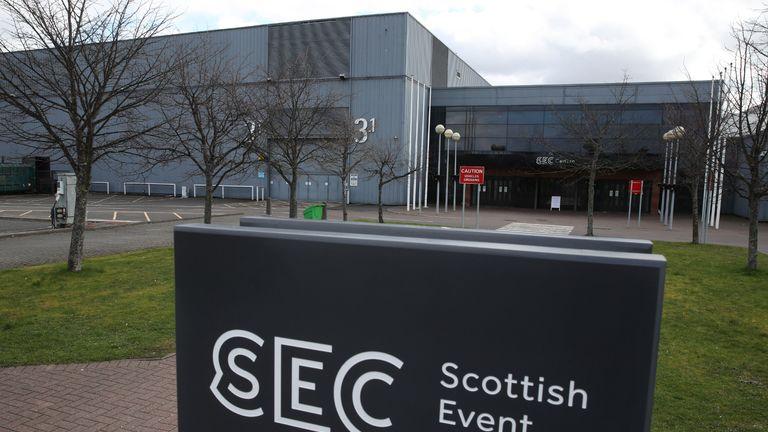 یک نمای کلی از پردیس رویداد اسکاتلند در گلاسگو در حالی که انگلستان همچنان در حصر است و به شما کمک می کند تا از گسترش ویروس کرونا جلوگیری کند.