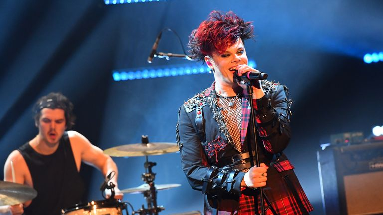 EDITORIAL USE ONLY Yungblud perform during the filming for the Graham Norton Show at BBC Studioworks 6 Television Centre, Wood Lane, London, to be aired on BBC One on Friday evening.