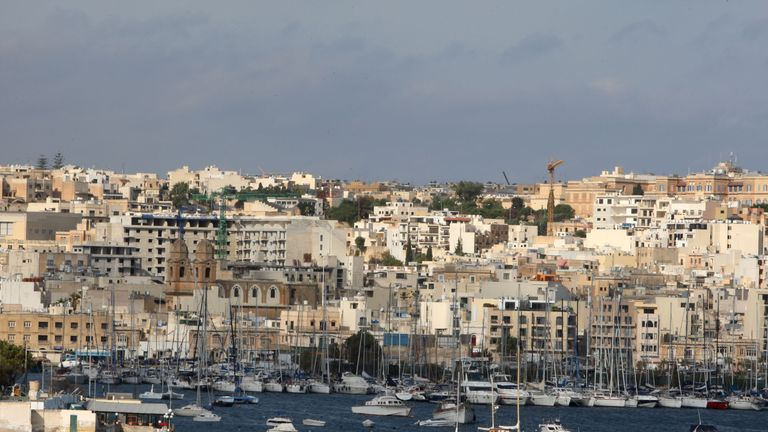 Generic shot of Valletta which is the capital of Malta.