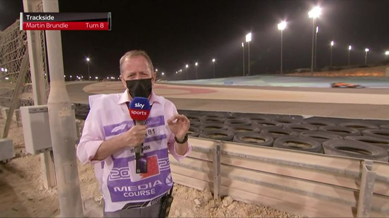 Martin Brundle was at trackside to cast his eye over turn eight during FP2 at the Bahrain Grand Prix