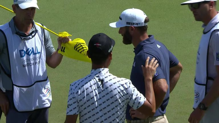Kevin Na warned Dustin Johnson not to pick up his ball before a putt was conceded but, unlike Matt Kuchar in 2019, Na did not claim the hole