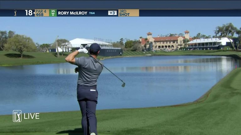 Rory McIlroy racked up a quadruple-bogey at TPC Sawgrass' par-four 18th after putting two balls in the water and then three-putting