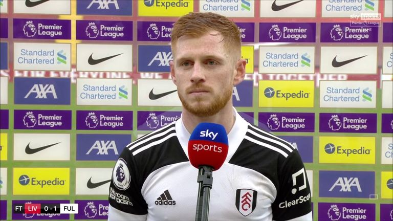 Fulham's Harrison Reed suggested their win against Liverpool at Anfield was down to the Cottagers 'wanting it more' than the Premier League champions