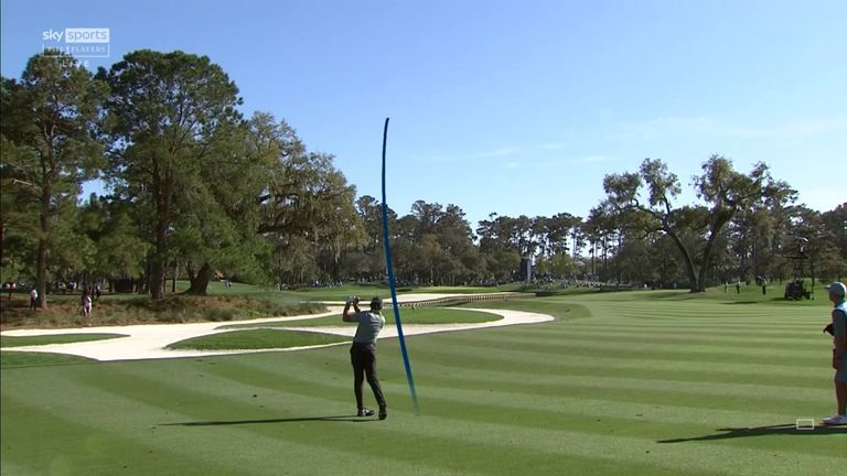 Garcia went a whisker away from an unlikely albatross at the par-five 11th, leaving a tap-in eagle