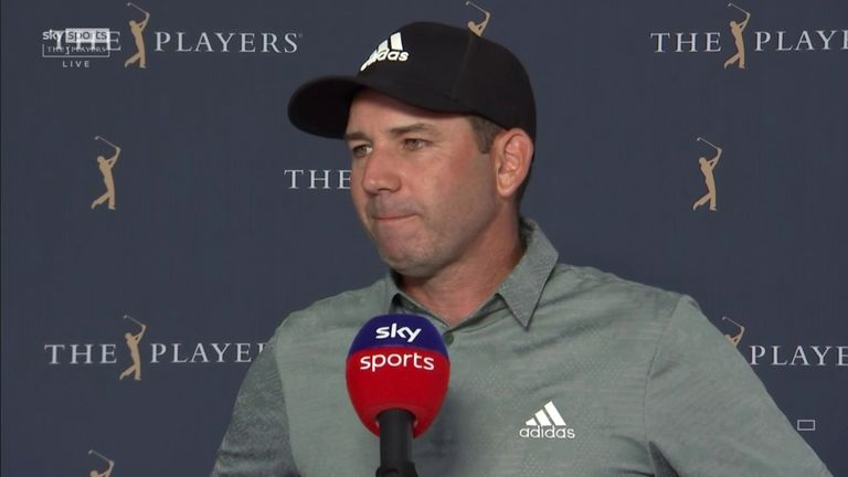 Overnight leader Sergio Garcia looks at the positives from an eventful second round at The Players and tries to explain a couple of close-range misses on his back nine