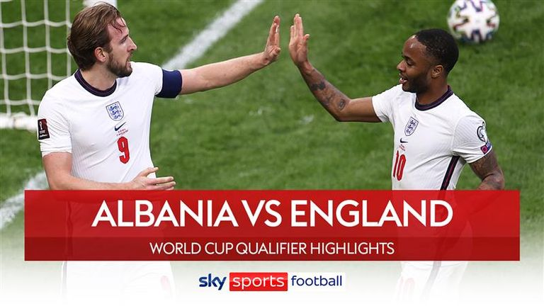 Highlights of Albania v England from FIFA World Cup European Qualifying Group I