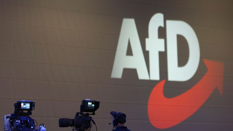 Alternative for Germany, AfD, is under observation for suspicion of far-right sympathies. Pic: AP