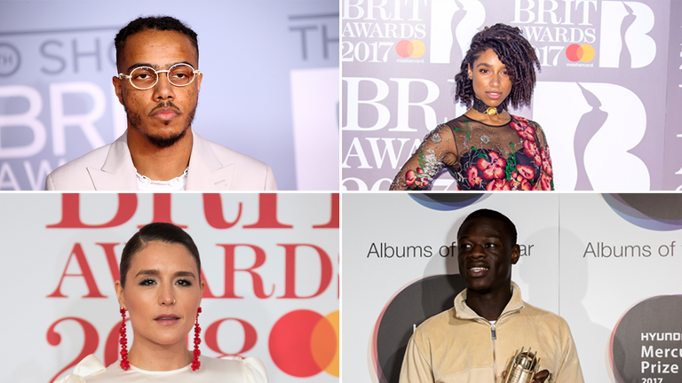 AJ Tracey, Lianne La Havas, Jessie Ware and J Hus are among the nominees this year. Pics: AP