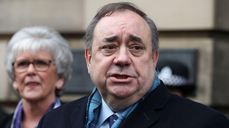 Mantan menteri pertama Skotlandia Alex Salmond