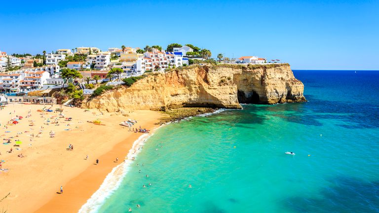 The Algarve in Portugal is a popular getaway destination for Britons