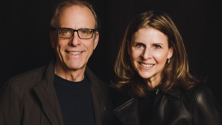 Allen V Farrow filmmakers Kirby Dick and Amy Ziering. Pic: Sky UK/HBO