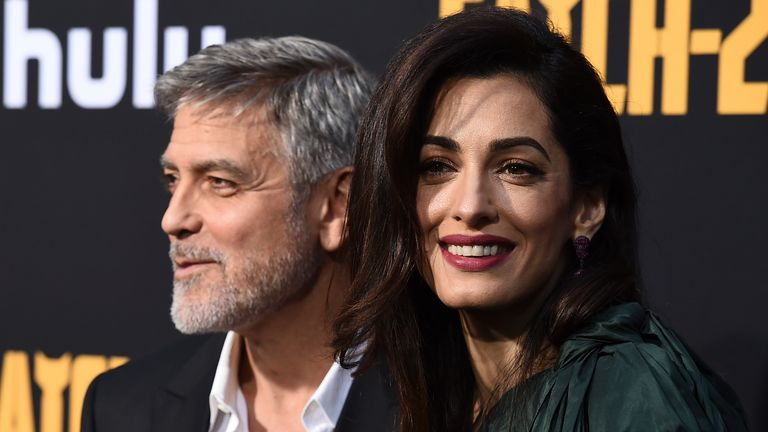 George and Amal Clooney were at the royal wedding. Pic: Jordan Strauss/Invision/AP