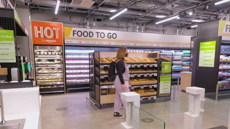 New Amazon Fresh in Ealing, the company's first physical store outside the US. Pic: Amazon UK
