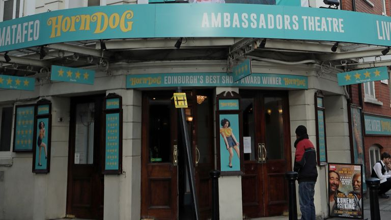 The Ambassadors Theatre in London. PA Photo. Picture date:Thursday January 16, 2020. Photo credit should read: Luciana Guerra/PA Wire