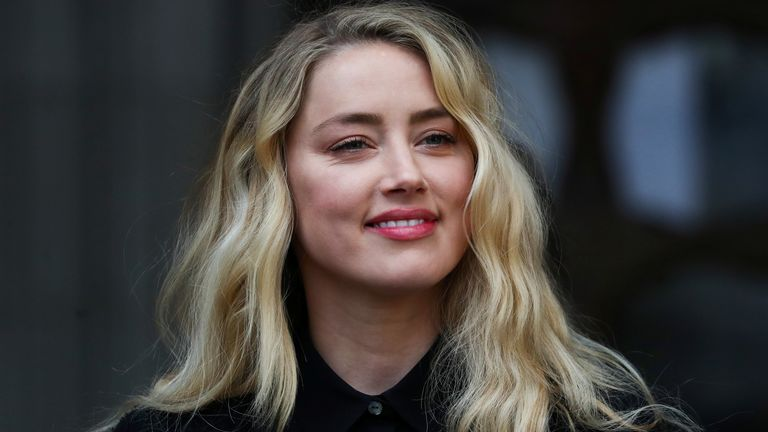 Amber Heard outside court during the Johnny Depp libel trial