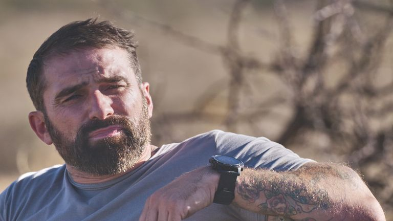 Ant Middleton pictured for his Straight Talking series. Pic: Potato/Sky UK