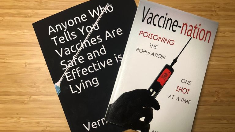 Anti-vaccine books are available to buy from major retailers