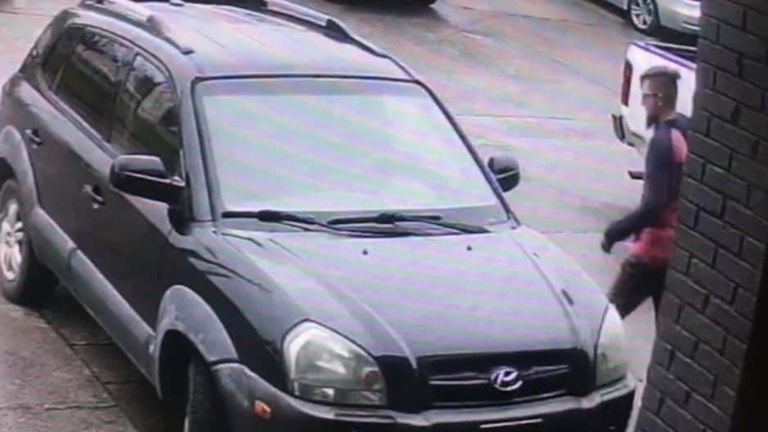 The suspect's vehicle was captured on surveillance cameras at all three shootings Pic: Cherokee Sheriff's Office