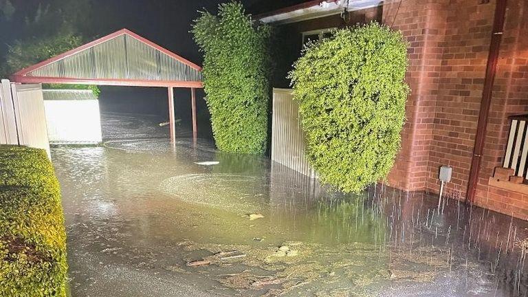 Houses flooded in Windsor, Sydney