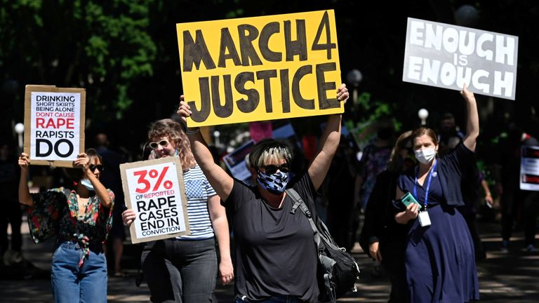 More than 100,000 women were expected to join the marches nationwide