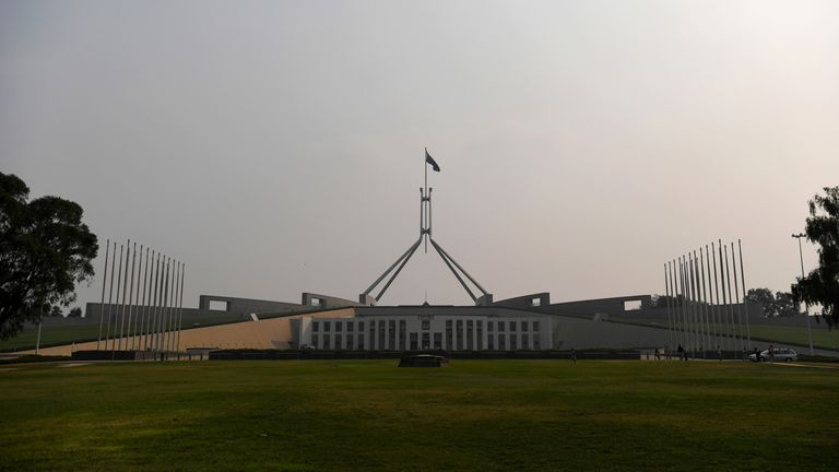 Australia's Parliament House in Canberra (file pic)