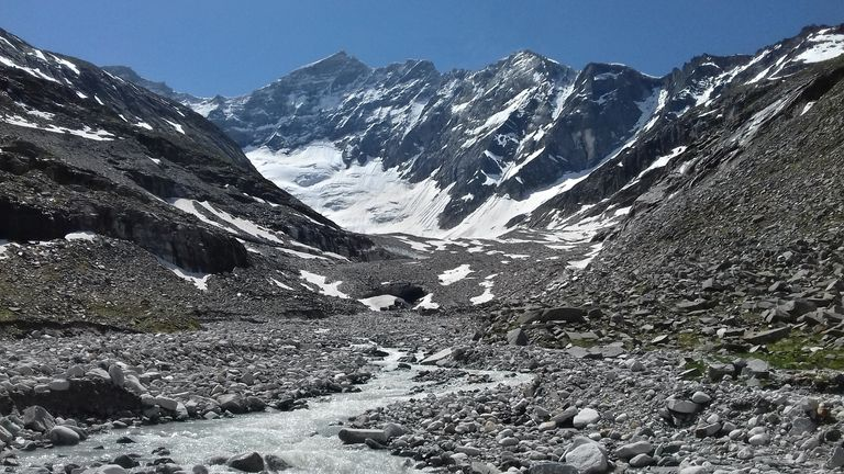 Researchers found the glacier carbon cycling process existed in the Austrian Alps and across the world. Pic: Lee Brown