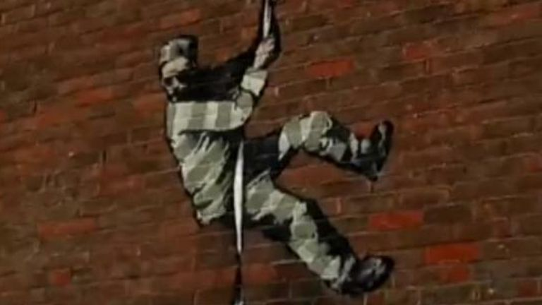 Banksy Reading Prison mural reading council