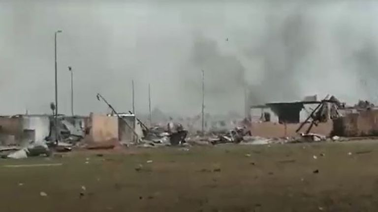 The explosions are believed to have been cause by 'negligent handling of dynamite'