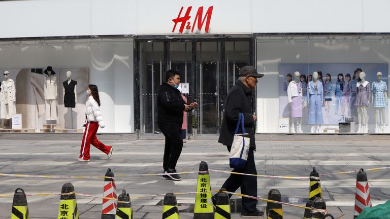 "The CCTV channel said H&M was not ""fashionable"""