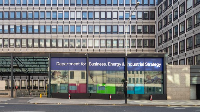 Department for Business, Energy, and Industrial Strategy on Victoria Street, London 27/3/2020