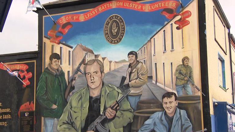 Street mural in loyalist Belfast