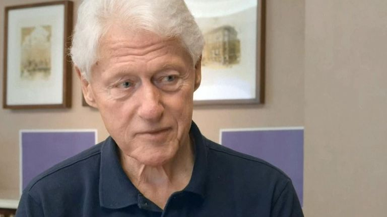 Bill Clinton says he wants to be able to move around again. Pic: Ad Council