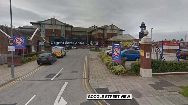 The arrest follow an investigation at Blackpool Victoria Hospital. Pic: Google Street View