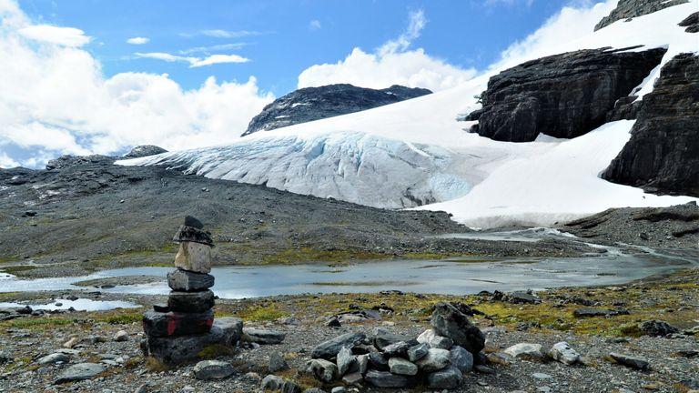 The Blaisen glacier in Norway. Pic: Lee Brown