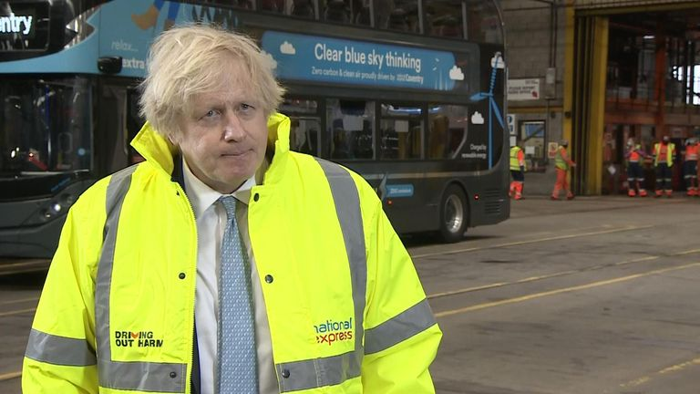 Speaking to reporters in Coventry, the prime minister said he backed Met Police Commissioner Dame Cressida Dick.