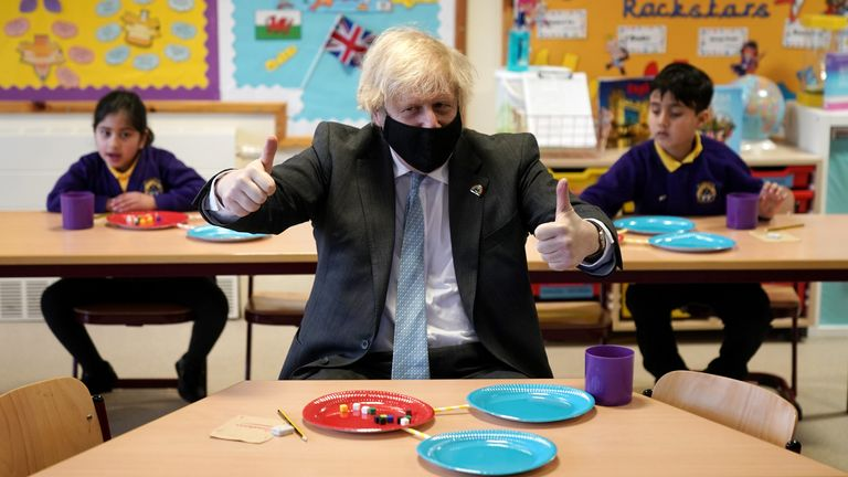 Boris Johnson has hailed the reopening of schools in England as a 'truly national effort'