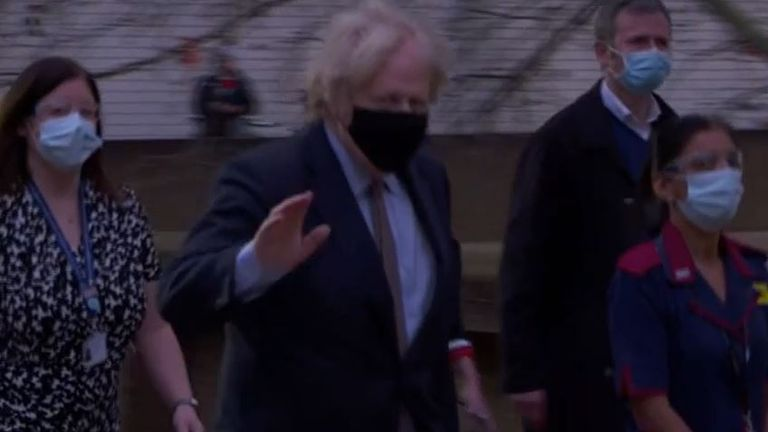 Boris Johnson pictured after having his vaccine