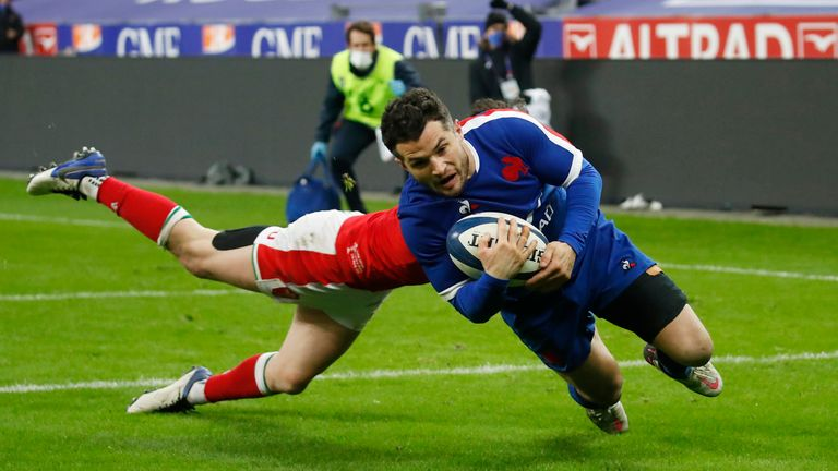 France's Brice Dulin scored their fourth try to beat Wales in overtime