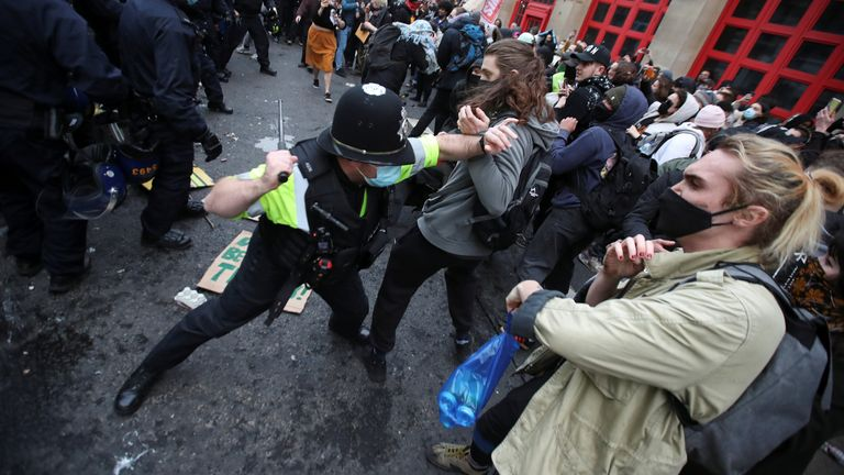 Protest against new proposed policing bill, in Bristol