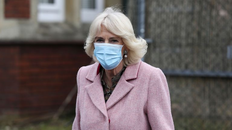 The Duchess of Cornwall was visiting the Community Vaccination Centre at St Paul's Church, Croydon