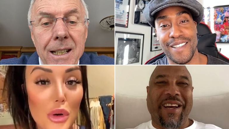 (clockwise from top left) Sven Goran Eriksson, Simon Webbe, John Barnes and Charlotte Crosby. Pics: Memmo
