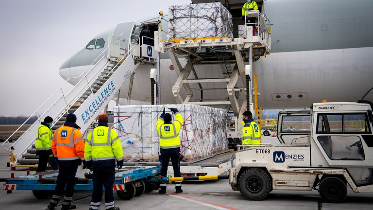 Sinopharm's COVID-19 vaccine shipment arrives at Budapest Airport