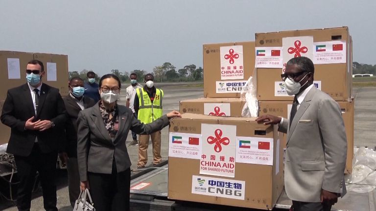 China's vaccine donations