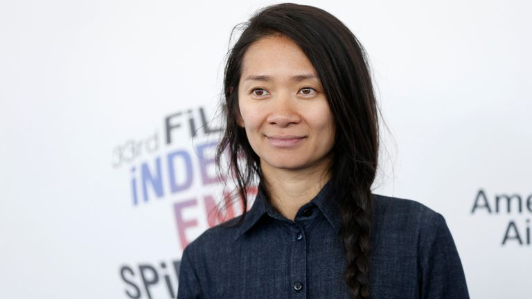 Nomadland director Chloe Zhao, pictured in 2018