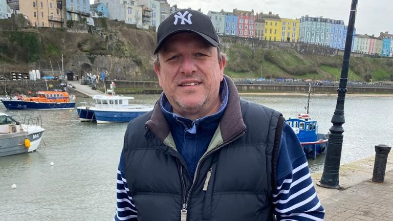Chris Ison visited Tenby and says he missed the ocean and beach